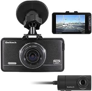 オウルテック ドライブレコーダー 前後カメラ 1年保証 1080PフルHD GPS付き 高画質 219万画素 F1.8レンズ LED信号対策済(東日本/西日本両対応) 2.7インチ LCD液晶 12V/24V車対応 OWL-DR801G-2C