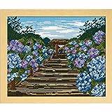 オリムパス ししゅうキット 四季を彩る「日本の名所」鎌倉明月院の紫陽花 7460(オフホワイト)
