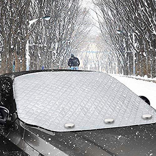Ehoovis 改良版 カーフロントカバー サンシェード 四季用 日焼け防止 霜よけ 雪対策 紫外線対策 防水 汎用 折り畳み 簡単取付(145 * 111cm)