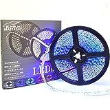 ぶーぶーマテリアル 色が綺麗なLEDテープ ブルー 青 600 LED 白ベース 5m 12V 防水