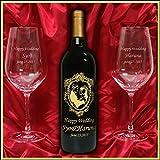 結婚祝いに名入れ彫刻金賞受賞ワイン&名入れ彫刻ペアワイングラスセット 名入れのお酒 プレゼント