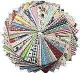 40枚 綿麻混紡 カットクロス 花柄 はぎれセット パッチワーク DIY手芸用 約32cm x 29.5cm