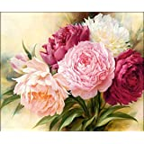 EOBROMD 5D Diamond Painting Kits DIY Full Drill Arts Crafts Wall Stickers for Home Decor Flowers (12X16inches/30X40cm)