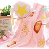 GK-O 2 in 1 Anime Cardcaptor Sakura Pink Sweet Flannel Pillow Cushion Throw Blanket