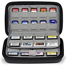 Sisma 72 Game Cartridge Holders Storage Case for 32 Nintendo 3DS DS Games and 40 Nintendo Switch Sony Ps Vita Games SD Memory Cards - Black