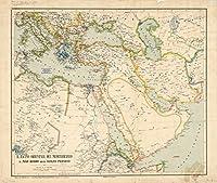 Historicマップ| Middle East 1818| IL BACINO Orientale del Mediterraneo IL MAR ROSSO Ed Il Golfo Persico |アンティークヴィンテージReproduction 44in x 37in 5159733_4437