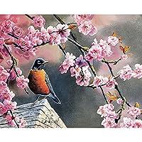 LovetheFamily 数字油絵 数字キット塗り絵 手塗り DIY絵 デジタル油絵 鳥や花 40 x 50 cm ホーム オフィス装飾