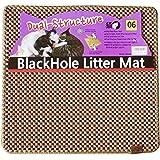 ブラックホール 二重構造 猫の砂取りマット 57cm x 53cm - 猫のトイレマット (Beige)