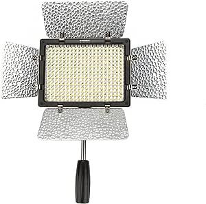 Yongnuo YN-300 III 300 LEDビデオライト 300球のLEDを搭載 カメラ&ビデオカメラ用 2280 LM 超高輝度 色温度調整 IRリモコン付き (5500K単色)【並行輸入品】