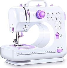 TNSO電動ミシン 12通り縫い方電動ミシン ライト付き初心者 家庭用ミシン ソーイングミニ フットコントローラー付き 説明書付き 簡単な操作