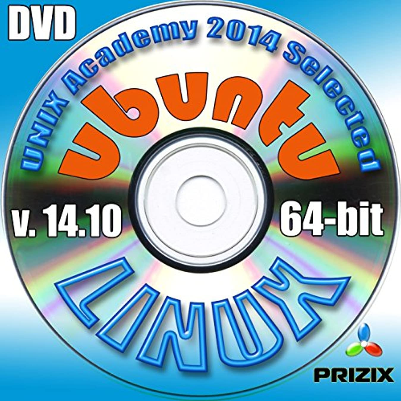 花束今晩印刷するUbuntuの14.10のLinuxのDVDの64ビットフルインストールには、無料のUNIXアカデミー評価試験、