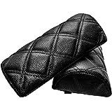 プロシードマービー ダイヤキルトネックパッド 黒×黒ステッチ 2個セット
