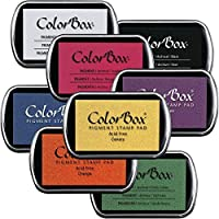 ColorBox 1072 Clearsnap Stamp Pad Set 3-1/4 x 2-1/4 Size Assorted Colors (Pack of 8) [並行輸入品]