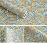 3world DIY タイル調 防水 壁紙 シール 45cmx10m SW463 テラコッタ
