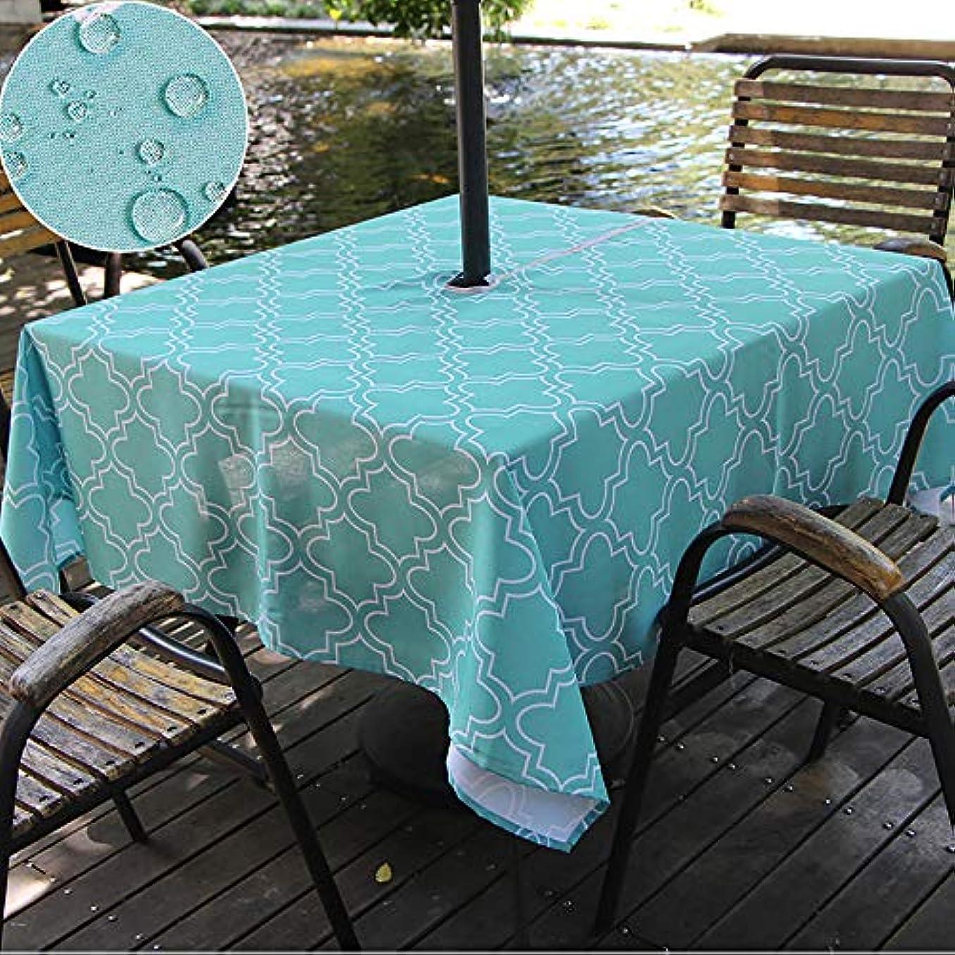 複合熟読ひまわり(150cm 210cm Rectangle, Turquoise) - Do4U Waterproof Table Cloth Indoor/Outdoor Tablecloth With Zipper and Umbrella Hole (150cm 210cm Rectangle, Turquoise)