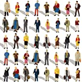 P8712 40pcs All Standing Pose Figures Assorted HO Scale Person Model Train Street People Desktop Decoration