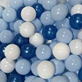 N+A Ball Pit Balls 2.36 Inch - Play Pit Soft Plastic Balls BPA Free Crush Proof Gifts for Kids Babies Toddlers Boys and Girls