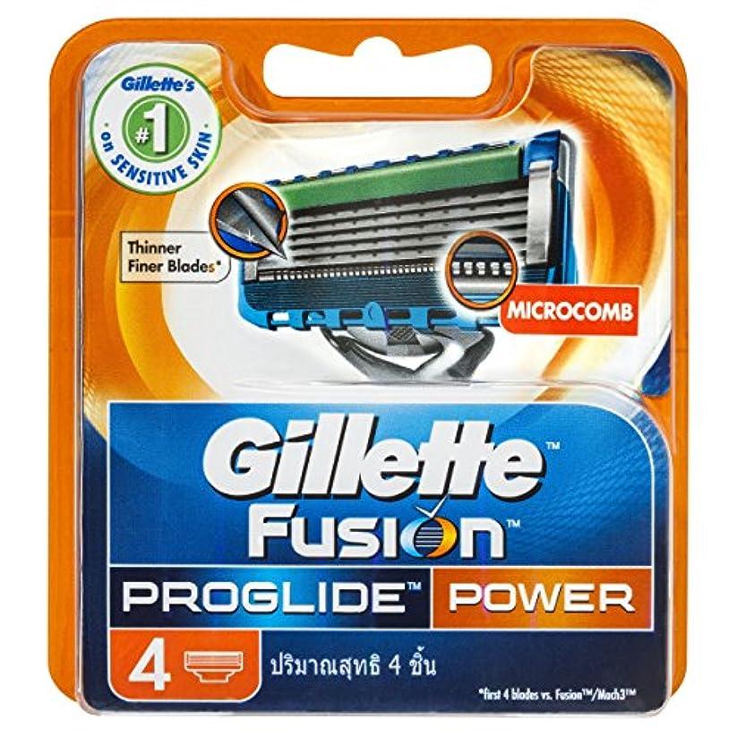 逆説フィルタ有効ジレット プログライドパワー 専用替刃 4B