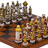 Bello Games Collezioni???The Tzar、Ivan the Great Chessmen &Georgio Leatheretteチェスボードfrom Italy