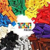 クラシックビルディングブロックおもちゃ| 1000クリエイティブパーツ| 10色| 14種類の仕様| 6歳以上の男の子と女の子に最適 性能価格比|主要な国際ブランドとの互換性|教育玩具