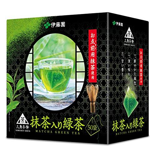 伊藤園 三角茶寮 抹茶入り緑茶 ティーバッグ 50袋×6本