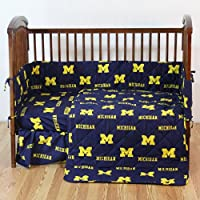 College Covers Michigan Wolverines 5ピースベビーベッドセット
