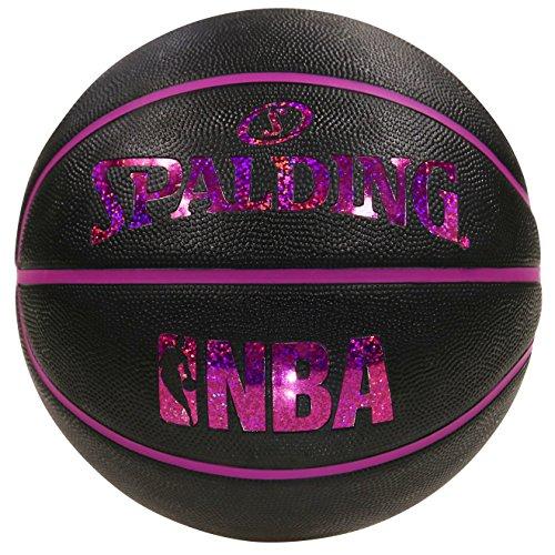 スポルディング バスケットボール 6号ボール ホログラム ラバー 6 ブラックレッド 83-661J 6 BLACK
