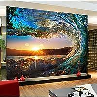 Lcymt 注文の写真の壁紙現代大きい壁画の居間のソファーの背景の壁紙3Dの立体的な壁紙-400X280Cm