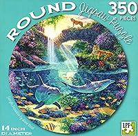 ジャングルパラダイス–350Piece Round Jigsawアートパズル