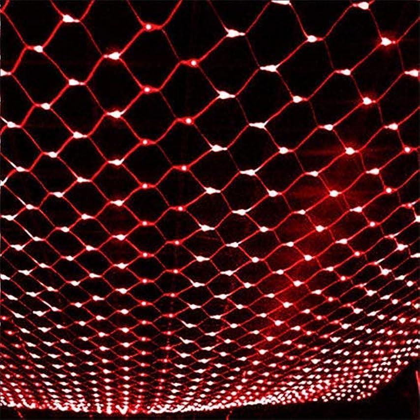 エトナ山一般化するスクリーチLEDネットライト リモコン付き 9.8フィート x 6.56フィート 200個のLEDネット メッシュツリーラップライト 電池式 8つのモード 調光可能 ストリングライト パーティー クリスマス ウェディング ガーデン ホーム パティオ 芝生用 レッド