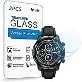 (3枚入り) Frgnie for TicWatch Pro3 スクリーン保護フィルム, 9H 強化 ガラス 保護フィルム 対応 TicWatch Pro 3 Smartwatch スマート腕時計