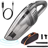 Car Vacuum, E COASTAL Rechargeable 12V 120W 7000PA Cordless Wet Dry Hand Vacuum, Handheld Strong Suction Car Vacuums Portable