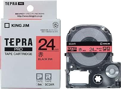 キングジム テープカートリッジ テプラPRO 24mm SC24R 赤