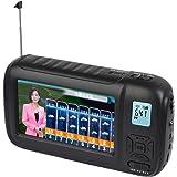 ワンセグテレビ ポータブルテレビ 携帯テレビ 4.3インチ FM/AMラジオ機能搭載 エコラジテレビ 防災テレビ 手回し充電 USB充電 電池式 SOS LEDライト 防災グッズ (ブラック)
