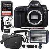 Canon EOS 5D Mark IV DSLR Camera Body 64GB SD Lowepro Camera Bag Polaroid Microphone Spare Battery LED Light Card Reader and Accessory Bundle [並行輸入品]