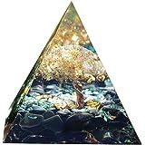 オルゴンピラミッド オルゴナイト ピラミッド ライフツリー クリスタル ピラミッド ナチュラルクリスタルエネルギータワー エネルギーヒーリングレイキチャクラ ピラミッド 置物 浄化 クリスタル ピラミッド
