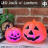電光ホーム 光るジャックオーランタン 中 12.0×9.0cm 持ち手付 使い捨てタイプ