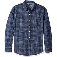 U.S. POLO ASSN. Men's Slim Fit Stripe, Plaid Or Print Long Sleeve Sport Shirt