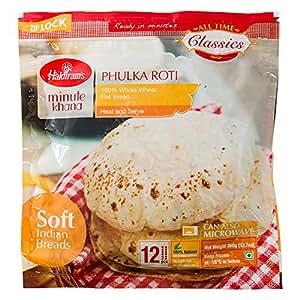 ロティ Haldiram's 360g(12枚入り) 1袋(冷凍) PHULKA ROTI