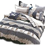 Essina King Size Quilt Cover Duvet Cover Doona Cover Set 3pc Rosetta Collection, 100% Cotton 620 Thread Count, Pillow Sham, Amore