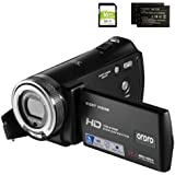 Camcorders ORDRO HDV-V12 HD 1080P Video Camera Recorder Infrared Night Vision Camera Camcorders with 16G SD Card and 2 Batter