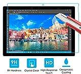 【ShineZone】MicroSoft Surface Pro 4 専用強化ガラスフィルム 国産ガラス採用 0.3mm 超薄型.表面硬度9H・ラウンドエッジ加工・飛散防止処理・ 気泡防止・高光沢 ・耐衝撃・指紋防止保護シール
