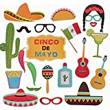 Mexicanテーマ写真ブース小道具キットDecorations Attached to the Stick – パーティーデコレーション29pcs