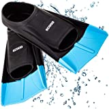 Swimming Training Fins Swim Flippers from SCOOB Travel Size Short Blade for Snorkeling Diving Pool Activities Men Women Kids