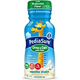 PediaSure Grow & Gain With Fiber, Kids' Nutritional Shake, With Protein, DHA, And Vitamins & Minerals, Vanilla, 8 fl oz, Pack
