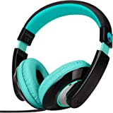 Rockpapa Comfort+ Over Ear Headphones Earphones with Microphone & Volume Control for Kids Childs Adults, Mobile Laptops Table