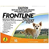 Frontline Plus Flea and Tick Treatment for Dog, 3 count