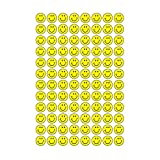 Trend Enterprises トレンド superSpots Stickers Neon Yellow Smiles 【ごほうびシール】 ニコニコご褒美シール 黄色 (800枚入り)