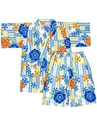 アスナロ(甚平) 甚平 女の子 キッズ 子供服 桜柄 綿100 和柄 上下セット お祭り 納涼