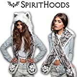 SpiritHoods/スピリットフーズ Husky/ハスキー ファー フードマフラー [並行輸入品]
